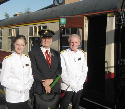 Pullman Dining - Crew on the Heritage Train (UK)