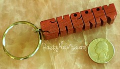 Purpleheart Keychain (DustyNewt Scott) Tags: wood woodwork wooden keychain key hand handmade name tag charm ring chain made gift accessories custom woodworking personalized fob dustynewt