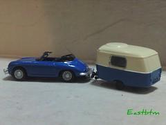 Porsche 356B with Eriba Caravan (Eastbtm - I am back online again. :)) Tags: scale porsche cara