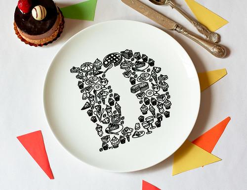 D for Dessert Plate
