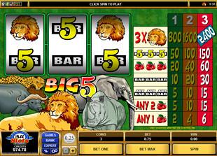Big Five slot game online review