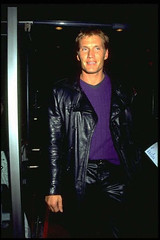 Dolph Lundgren in black leather (Lederjule) Tags: man male muscles leather sweden actor sverige lederhose leatherpants lederjacke