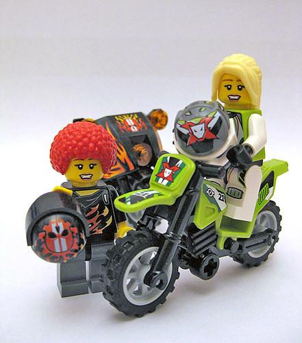 Custom minifig Biker chick custom minifigs