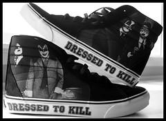 Dressed To Kill KISS Vans (Sarah B in SD) Tags: california black classic shoes kiss band sneakers footwear vans genesimmons rockandroll paulstanley petercriss dressedtokill hitops offthewall acefreeley