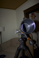 telescope: objective (davedehetre) Tags: drive telescope motor 90mm 90 equatorial celestron refractor astromaster
