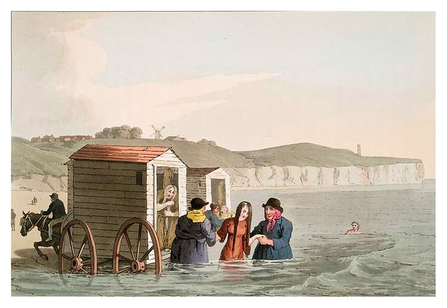 021-Baños de mar-The costume of Yorkshire...1814- George Walker