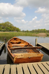Rowing boat on the River Stour (Ian Press Photography) Tags: tourism rural river boats boat village country scenic tourist vale valley rowing essex dedham hire constable stour
