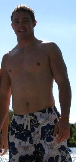 Colt McCoy shirtless