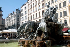 Der Bartholdi-Brunnen in Lyon