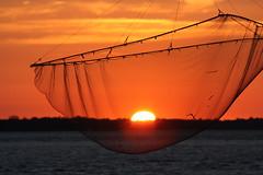 Soleil pêchant... (NUMERIK33) Tags: sun soleil explore été filet fleuve pêche gironde estuaire soleilcouchant numerik33