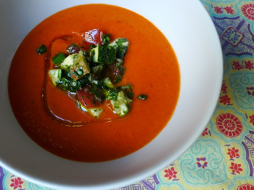 Chilled Red Pepper and Tomato Soup