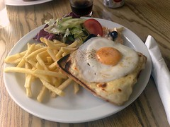 Croque Madame at Edinburgh's the Water of Leith Cafe Bistro