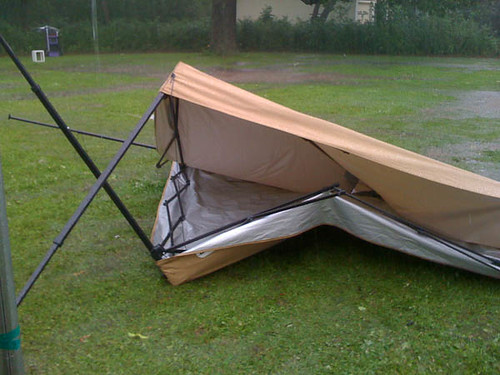 Yep, Neighbor's Fallen Tent