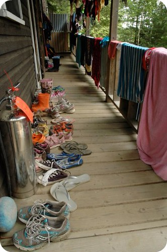 Camp Wabikon: shoes in order