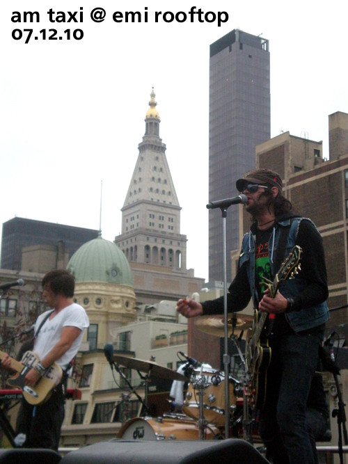 AM Taxi on EMI's Rooftop, July 12, 2010