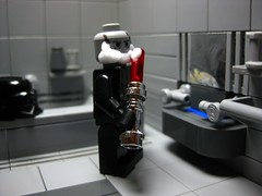 Darth Shave (leg0fenris) Tags: bathroom star starwars bath lego lord saber shave lightsaber wars vader legofenris