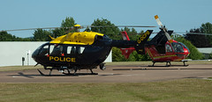 DCP a/c u/s at base (q3inq8) Tags: police helicopter devon exeter helipad ec135 airambulance ec145 middlemoor bk117c2 gdaat gdcpb helimed04