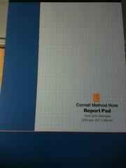 コーネルメソッドノートとそのレポートパッド