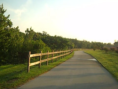 Biking to Work on Econ Trail