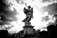 Beyond Art (andreabianchini) Tags: sunlight rome roma art del clouds photoshop silver lens nikon nuvole arte sigma pro beyond 28 angelo sole sublime bernini luce castel santangelo deus 1850 nubi contrasto ligno cs5 efex d3000 regnavit