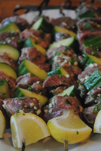 Recipe Lamb and Cucumber Kebabs with Feta Sauce by ...