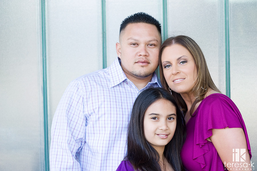 Beautiful family portraits in downtown Sacramento by Teresa K photography