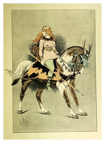 002-Una amazona-Le chic à cheval histoire pittoresque de l'équitation 1891- Louis Vallet