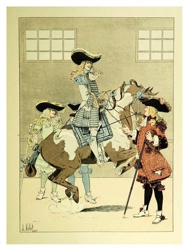 015-Un alumno del marques de Newcastle-Le chic à cheval histoire pittoresque de l'équitation 1891- Louis Vallet