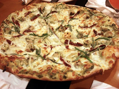 CPK pesto chicken pizza