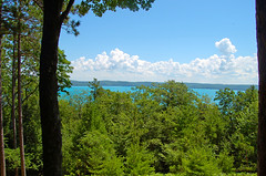A pleasant Day in Michigan and a Birthday wish for Iris! (she wolf-) Tags: she life birthday blue iris black nature up by aka walking photography for living woods wolf with near michigan touch north july blues happiness glen diane arbor greens empire summertime wish kramer sunnyday belated 2010 whitefluffyclouds glenlake skie goodthoughts a irvo forestbliss
