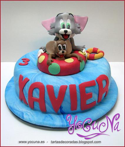 Tarta Fondant -- Tom & Jerry