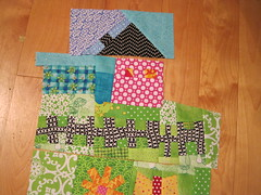 doll quilt under construction
