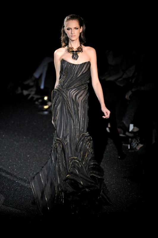 Basil Soda FW2010 collection zipper evening gown dress 01