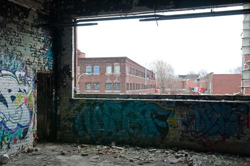 Vue sur le quartier industriel