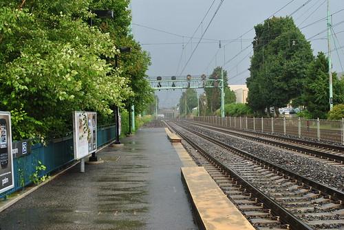 Looking East on the tracks