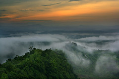 SUNRISE  [explored] (mostakim timur) Tags: morning sky sun green nature beauty clouds sunrise canon landscape eos hill hills rise naturalbeauty bangladesh bandarban timur pahar chittagong surjo nilachal 1000d canoneos1000d mostakim mostakimtimur