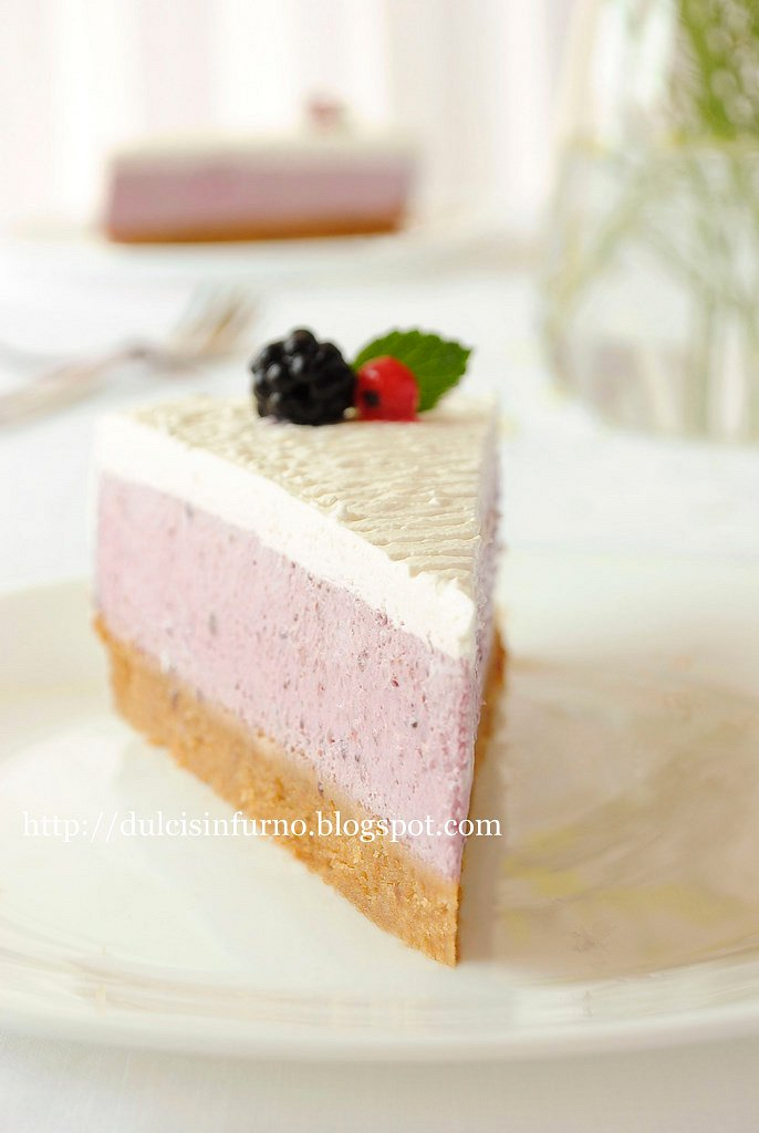 Cheesecake ai Frutti di Bosco-No Bake Berry Cheesecake