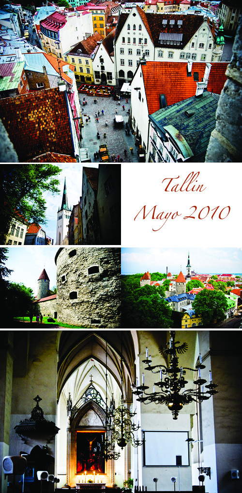 Collage Tallin con letras