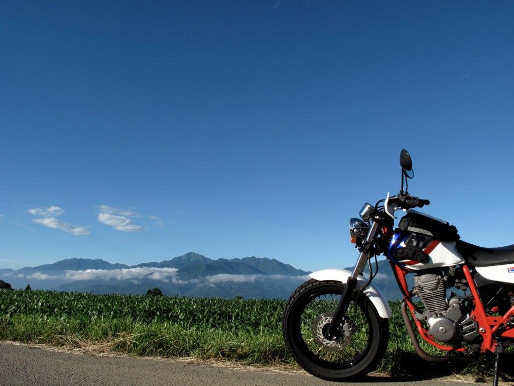 甲斐駒ケ岳とFTR