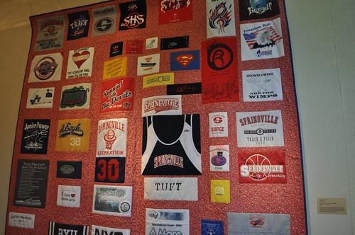 huge t-shirt quilt, SMofA quilt show 2010