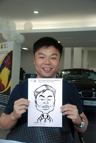 Caricature live sketching for Performance Premium Selection BMW - Day 3 - 10