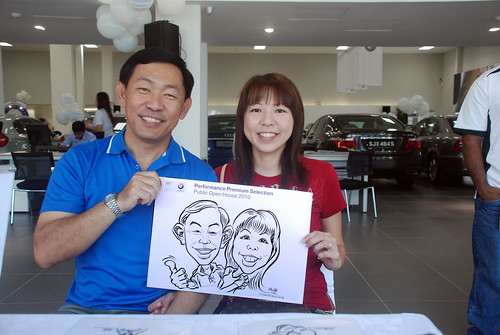Caricature live sketching for Performance Premium Selection BMW - Day 2 - 5