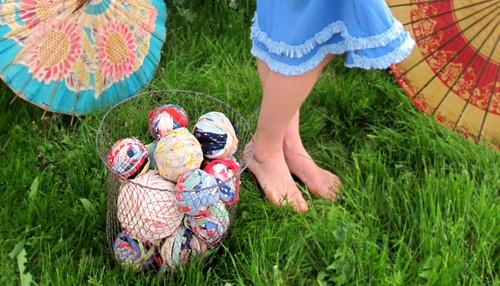 rag balls- inspiration