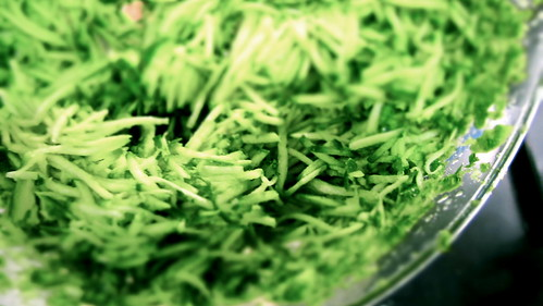shredded courgettes © dan and tuesday