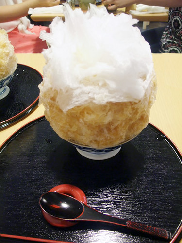 hojicha tea syrup shaved ice