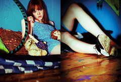 peek-a-boo (claudia.susana) Tags: bear girl fashion mexico skinny diptych df paint teddy girly young redhead lolita indie dolly hulahoop saddleshoes claudiasusana chelaolea