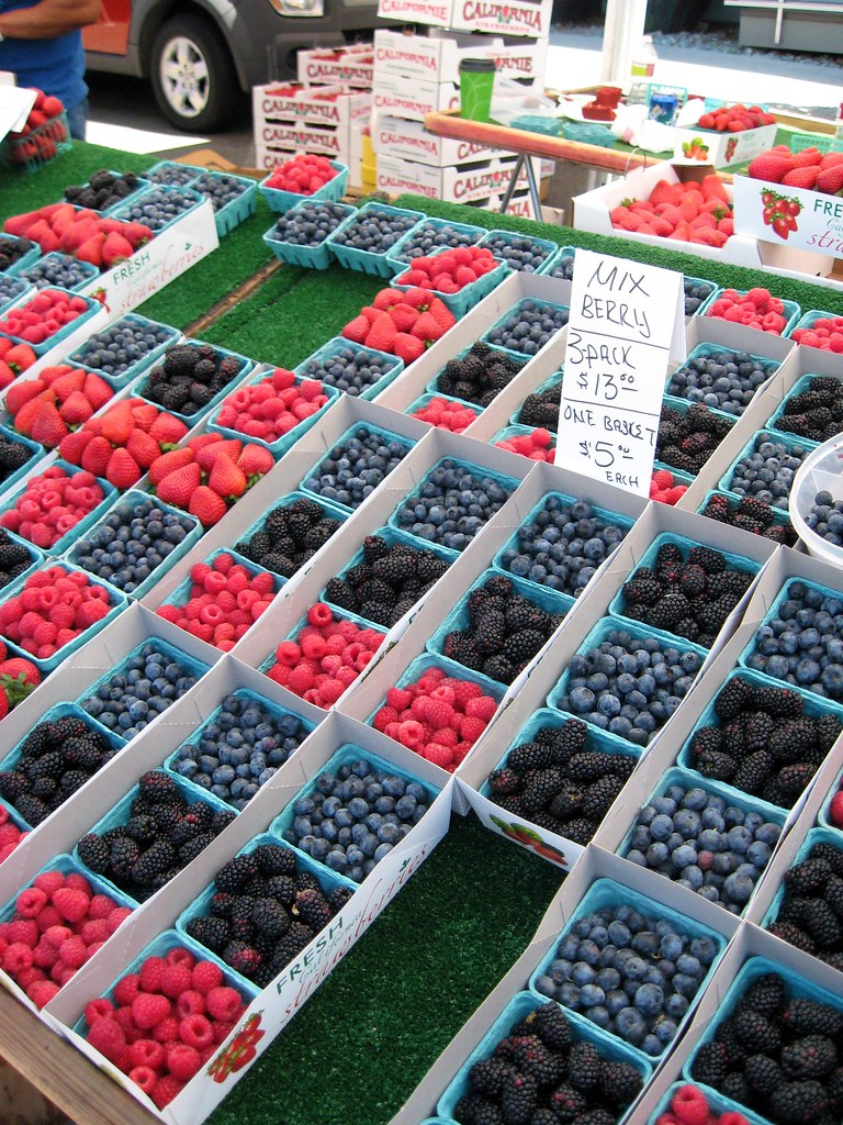 farmer's market berries.