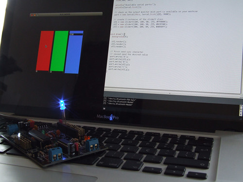 RGB Mixer - Processing to Arduino