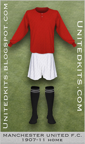 Manchester United 1907-1911 Home kit (variant)