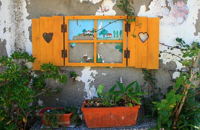 falsa finestra dipinta